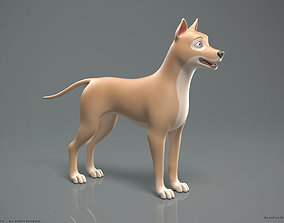 Stylized Cartoon Dog 3D model