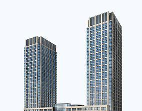 Office Building 3D apartment-building