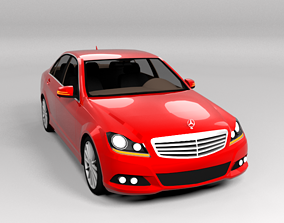 3D model game-ready MERCEDES C CLASS FACELIFT LOWPOLY