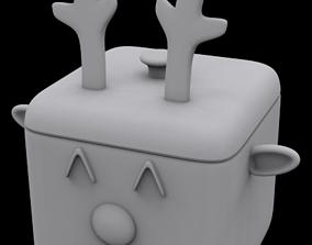 3D print model Reindeer box