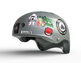 3D model Gray Retro Helmet