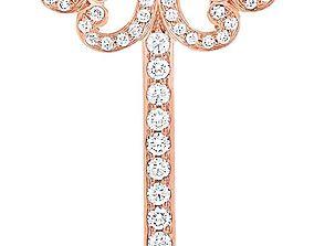 Tiffany key pendants 3D printable model