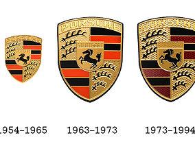 Porsche Old Crests 3D model