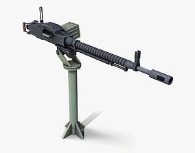DSHK Machine Gun lowpoly 3D asset