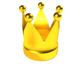 3D asset low-poly Crown
