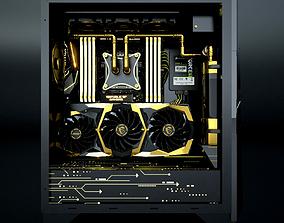 3D model Custom Water PC - Golden ver