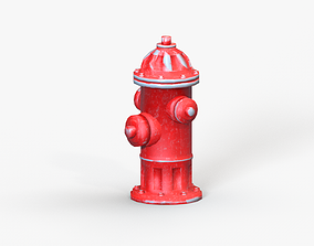 Fire Hydrant 3D asset game-ready