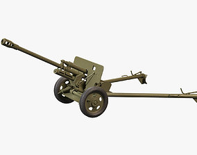 3D model realtime Cannon ZIS-2