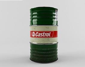 Barrels Castrol PBR 3D asset