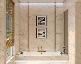 3D asset Two Modern Hotel Bathroom