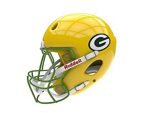 3D model realtime football helmet