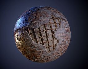3D model Brick With Rebar Seamless PBR Texture