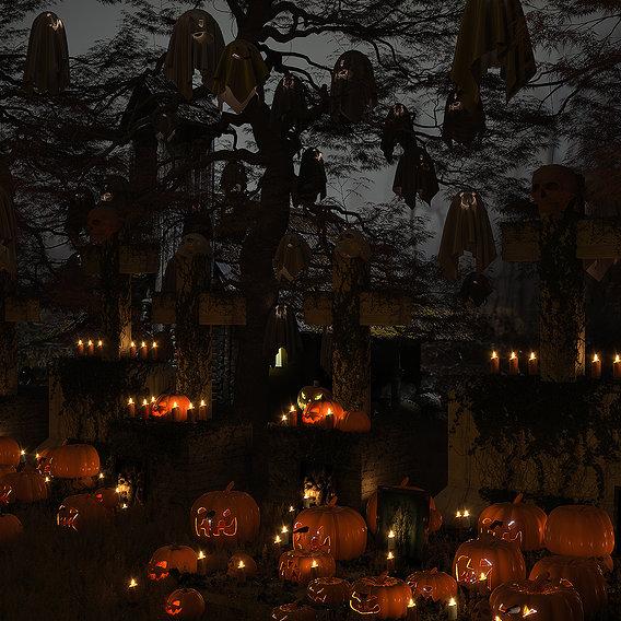 Halloween model set
