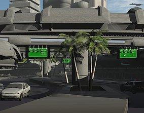 street mall sci-fi 3D model
