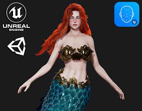 3D asset Mermaid - Game Ready