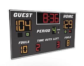 Scoreboard 3D model