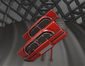 Sci-Fi Stairs - 24 - Red Version 3D model