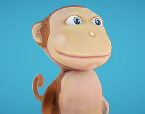 3D model Monkey Hand-Painted
