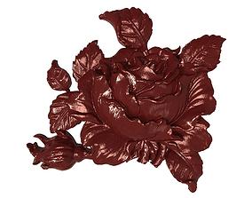 3D print model Tea rose bas relief for CNC