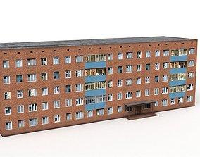 Russian hostel 3D asset