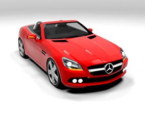 3D model MERCEDES SLK CABRIO LOWPOLY
