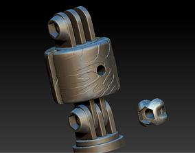 Gopro Hinged Swivel Mount M5 bolt knob hero 3d print