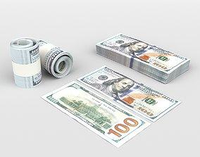 100 US Dollars 3D model