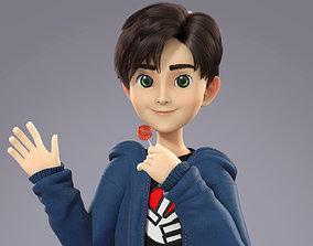 Cartoon Teenager Boy 3D model