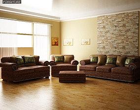 Ashley Living Room Ralston 3D model