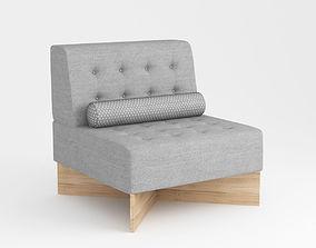 Aquilon Chair 1960 by PIERRE GUARICHE 3D model