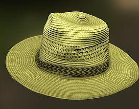 Hat low poly 3D asset realtime