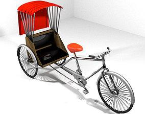 3D model Rickshaw - Center-driver