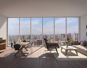 Living Room 3D Model pitch