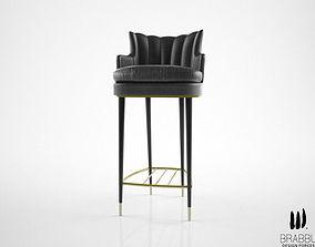 Brabbu Plum counterstool 3D model