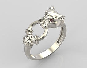 gem Panther Ring 3D print model