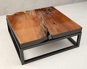 magazine Teak Coffee Table 3D model