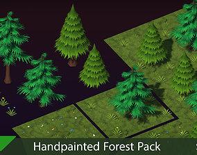 3D asset Handpainted Forest Pack v1