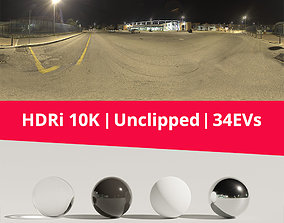 HDRi Night Lights and Buildings 3D model