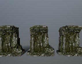 sculpture statue 2 3D asset low-poly