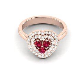 rings Women heart ring 3dm render detail