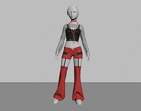 TeenGirl Punk Gothic Outfit 3D