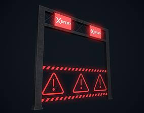 Cyberpunk Street Sign 3D model game-ready