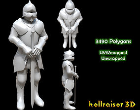 3D asset Armored Knight