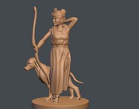 3D print model The Goddess of ARTEMIS and dog