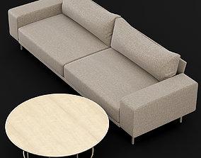 3D model Sofa piu double 250 and cara 100 cofe table BT
