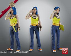 Student Female AAS 2130 004 3D model