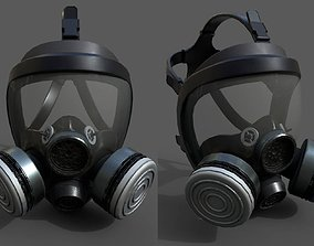 3D model Gas mask helmet scifi military combat soldier