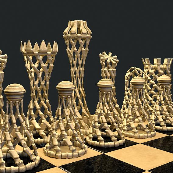 Bone Chess Set