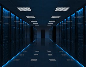 3D Server Room Black