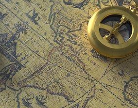 3D model Kompass MAP treasure